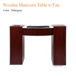Wooden Manicure Table with Oak and Mohogany & Fan – 42 inches