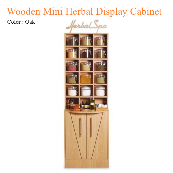 Wooden Mini Herbal Display Cabinet – 70 inches