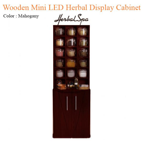 Tủ Trưng Bày Herbal Wooden Mini Với Đèn LED – 78 inches