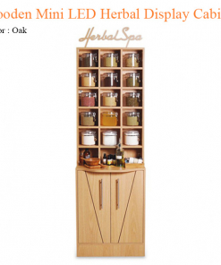 Wooden Mini LED Herbal Display Cabinet – 78 inches