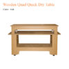 Wooden Quad Quick Dry Table – 58 inches