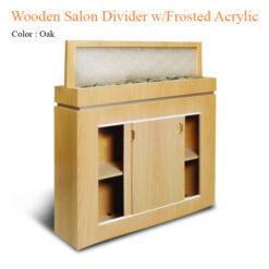 Wooden Salon Divider with Frosted Acrylic – 54 inches