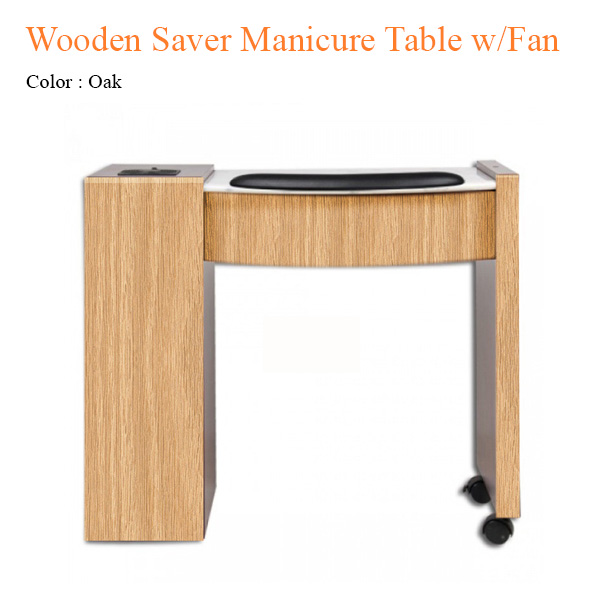 Wooden Saver Manicure Table With Fan 34 Inches
