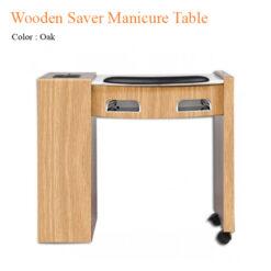 Bàn Nail Wooden Saver Với Đèn Gel UV Và Quạt Sấy – 34 Inches