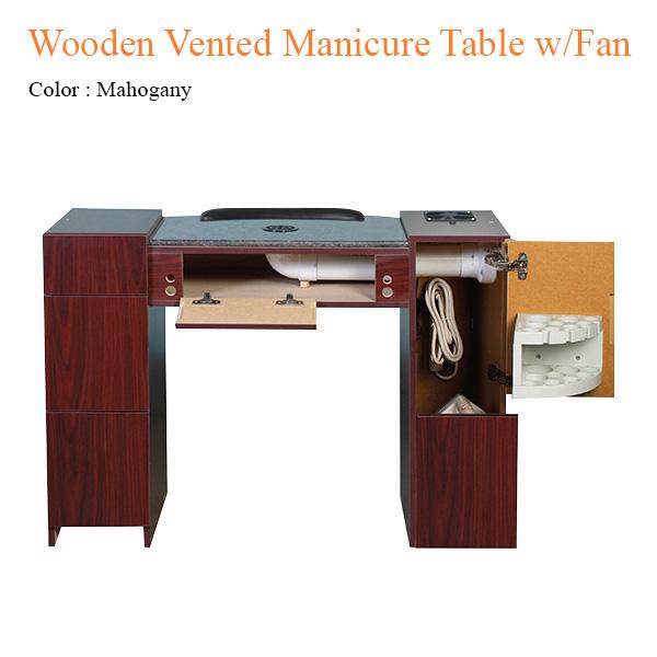 Bàn Nail Wooden Với Hệ Thống Thông Gió Và Quạt Sấy – 42 Inches