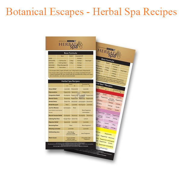 Botanical Escapes – Herbal Spa Recipes