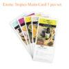 Exotic Tropics Menu Card 5 pcs set