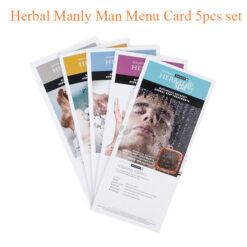 Herbal Manly Man Menu Card 5 pcs set