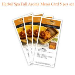 Herbal Spa Fall Aroma Menu Card 5 pcs set