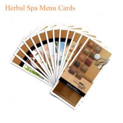 Herbal Spa Menu Cards