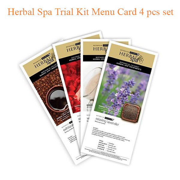 Herbal Spa Trial Kit Menu Card 4 pcs set