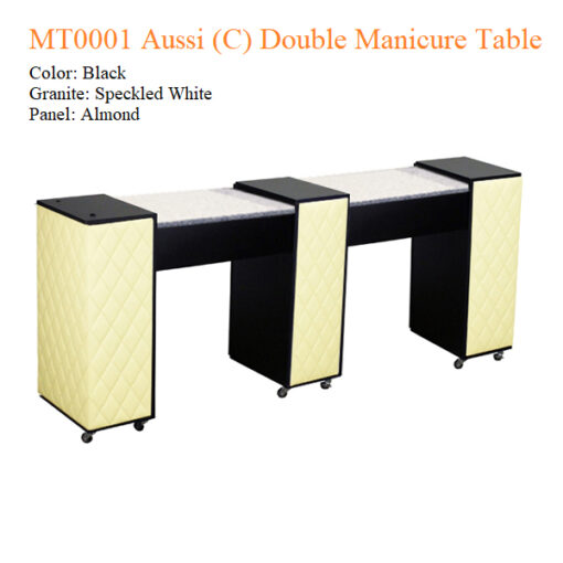MT0001 Aussi (C) Double Manicure Table – 74 inches