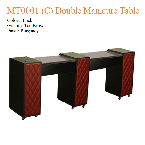MT0001 (C) Double Manicure Table – 74 inches