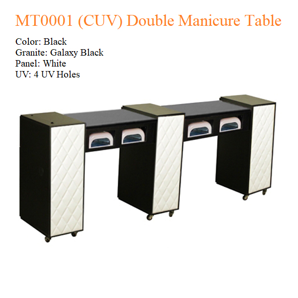 MT0001 (CUV) Double Manicure Table – 74 inches