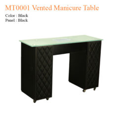 MT0001 Vented Manicure Table – 42 inches