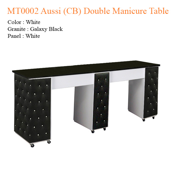 MT0002 Aussi (CB) Double Manicure Table – 74 inches