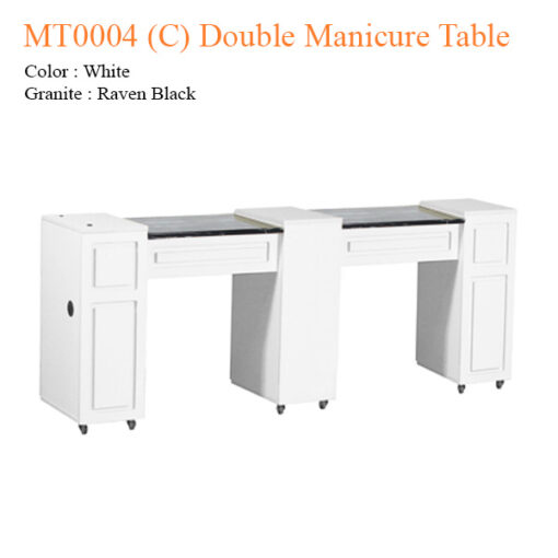 MT0004 (C) Double Manicure Table – 74 inches