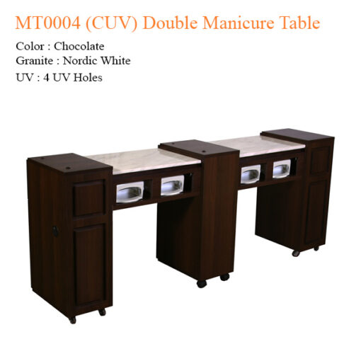 MT0004 (CUV) Double Manicure Table – 74 inches