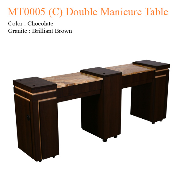 MT0005 (C) Double Manicure Table – 74 inches