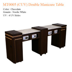 MT0005 (CUV) Double Manicure Table – 74 inches