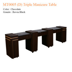 MT0005 (D) Triple Manicure Table – 106 inches