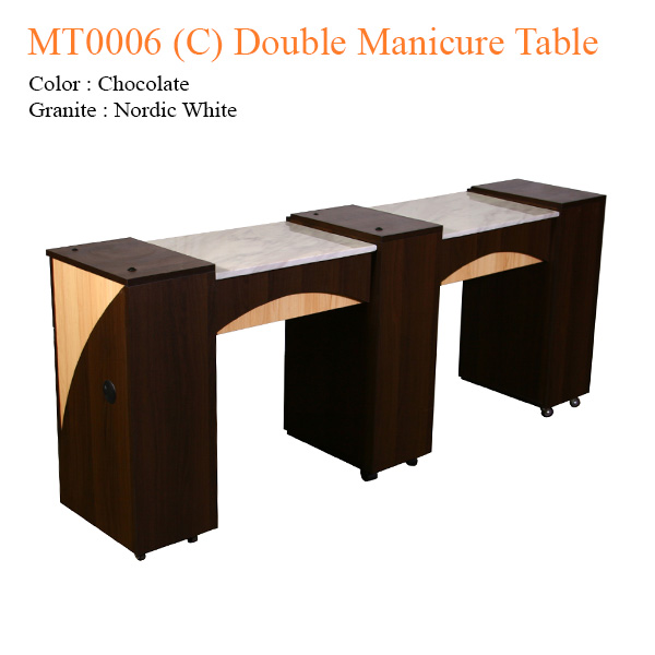 MT0006 (C) Double Manicure Table – 74 inches