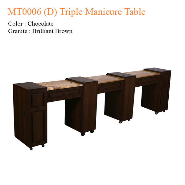 MT0006 (D) Triple Manicure Table – 106 inches