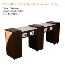 MT0007 (CUV) Double Manicure Table – 74 inches