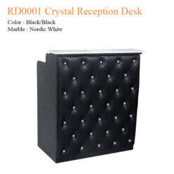 RD0001 Crystal Reception Desk – 42 inches