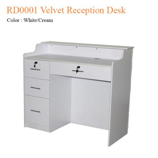 RD0001 Velvet Reception Desk – 48 inches