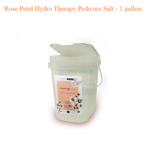 Rose Petal Hydro Therapy Pedicure Salt – 1 gallon