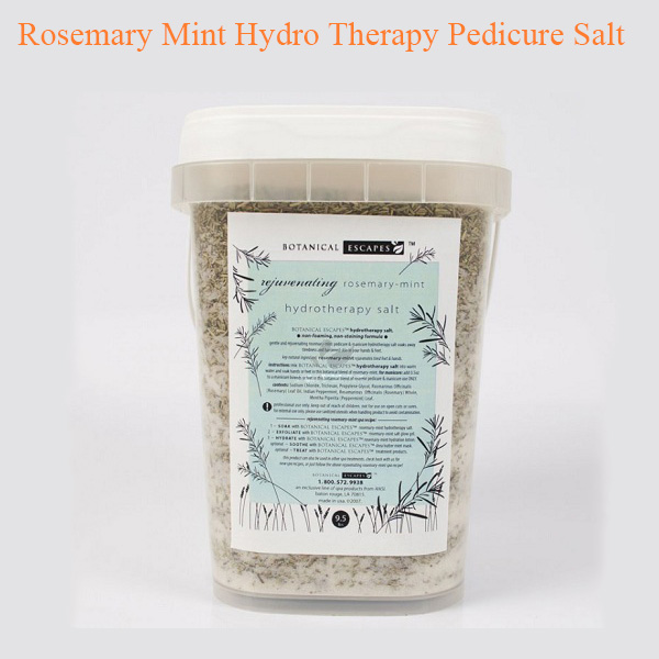 Rosemary Mint Hydro Therapy Pedicure Salt – 1 gallon