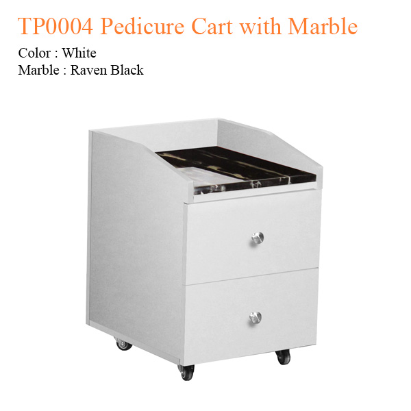 TP0004 Pedicure Cart with Marble – 21 inches