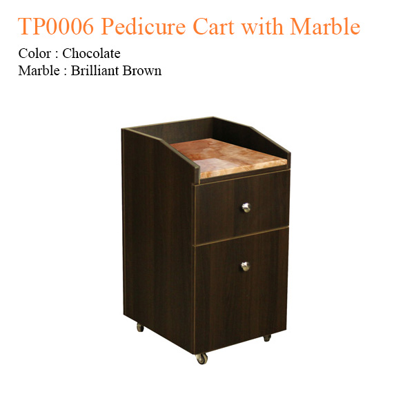 TP0006 Pedicure Cart with Marble – 28 inches