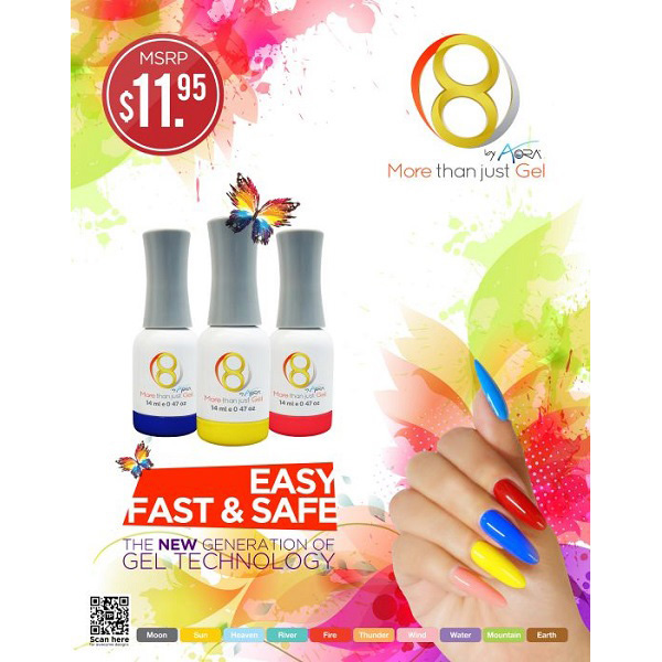 Sơn 8 Gel Aora – Fire 1 – 14ml
