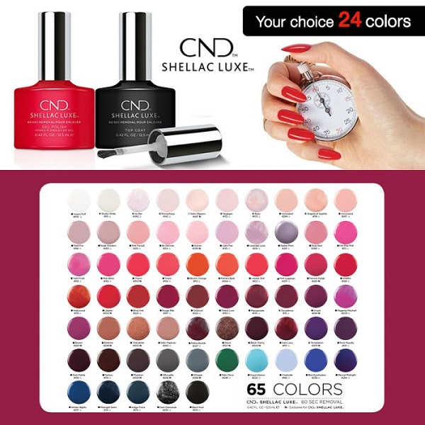 Cnd Shellac Luxe Select Any 24 Gel Polishes