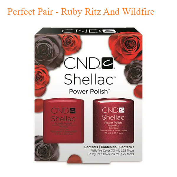 CND Shellac Perfect Pair – Ruby Ritz And Wildfire