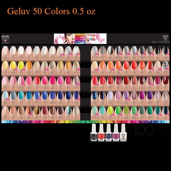 Geluv 50 Colors 0.5 oz Select any 50 Gel Polishes - Sản phẩm mua nhiều