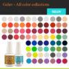 Geluv Kit – 30 Colors + FREE 1 Hi-Power LED Light – 1 Midi LED Light Dryer – 3 Base Coat – 3 Top Coat