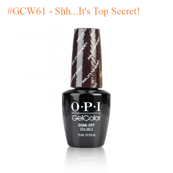 9bdec5cd0 OPI Gel  GCW61 - WashingtonDC Collection - Shh...It s Top Secret ...