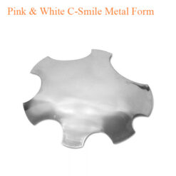 Pink & White C-Smile Metal Form