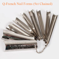 Q-French Nail Forms (9ct Chained)
