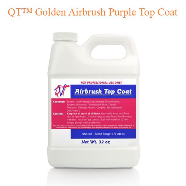 QT™ Golden Airbrush Purple Top Coat