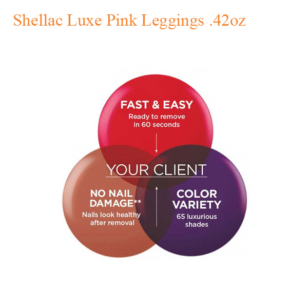 Sơn Gel Shellac Luxe – Pink Leggings 0.42oz