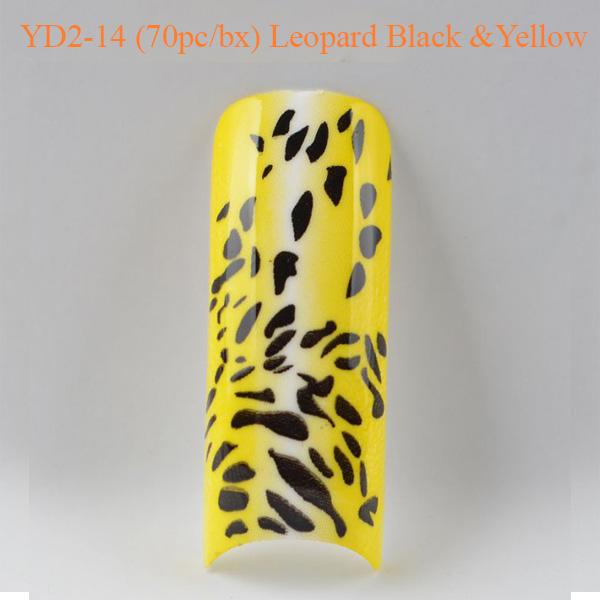 Móng Tay Giả Beyond YD2-14 Họa Tiết Leopard Black và Yellow (70pc_bx)