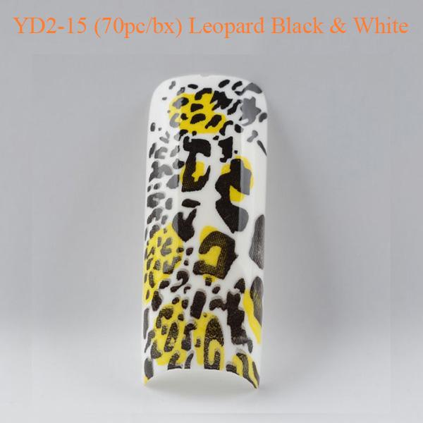 Móng Tay Giả Beyond YD2-15 Họa Tiết Leopard Black và White (70pc_bx)