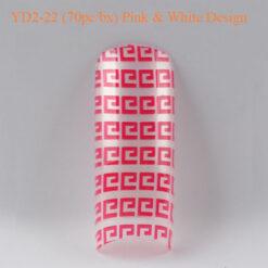 Tip Beyond Design YD2-22 (70pc_bx) Pink & white design