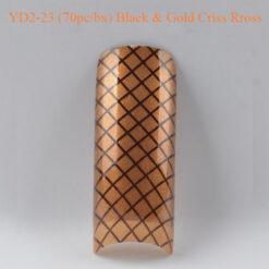 Tip Beyond Design YD2-23 (70pc_bx) Black & gold criss cross
