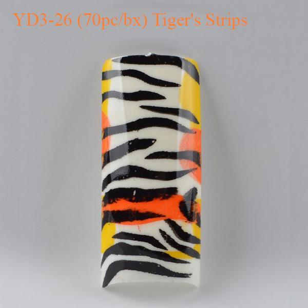 Móng Tay Giả Beyond YD3-26 Tiger's Strips (70pc_bx)