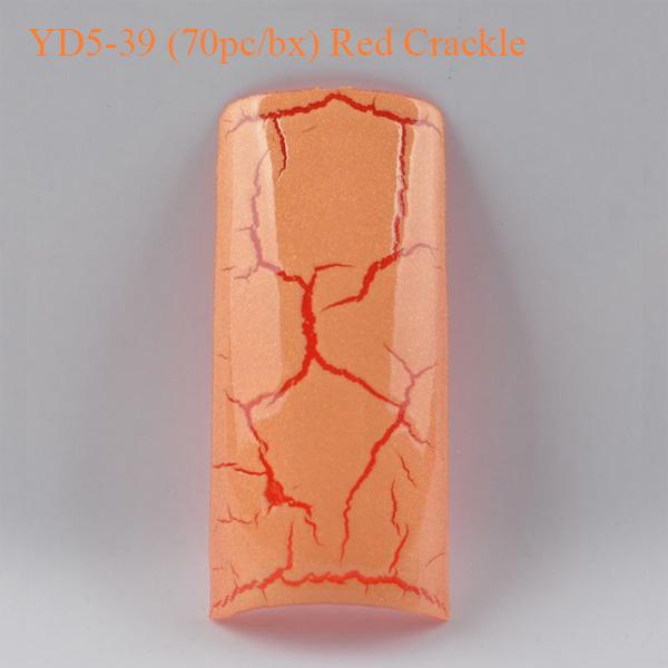 Móng Tay Giả  Beyond YD5-39 Red Crackle (70pc-bx)